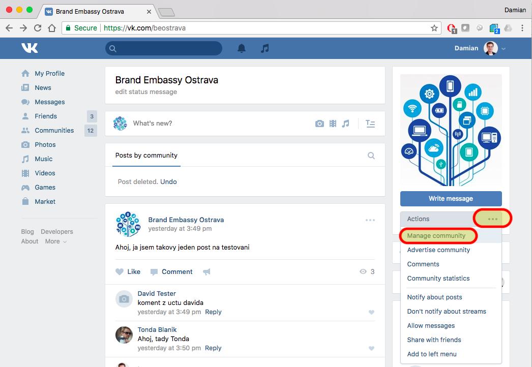 Vkontakte – Brand Embassy Help Center